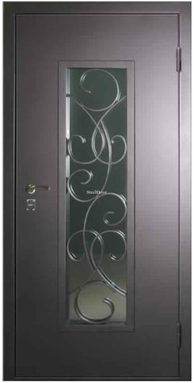 Входная металлическая дверь с ковкой SteelDoor К-10
