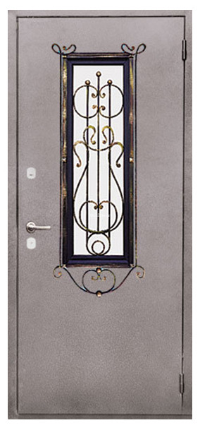 Входная металлическая дверь с ковкой SteelDoor К-6