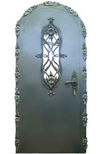 Входная металлическая арочная дверь с ковкой SteelDoor АР-7