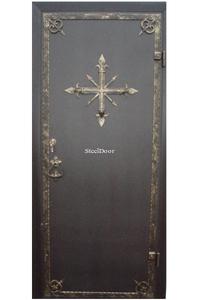Входная металлическая дверь с ковкой SteelDoor К-2