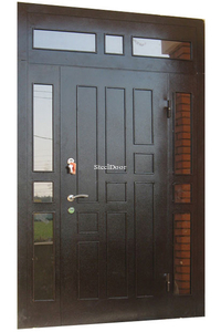 Входная металлическая распашная дверь с ковкой SteelDoor К-9