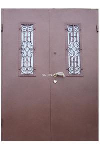 Входная металлическая распашная дверь с ковкой SteelDoor К-8