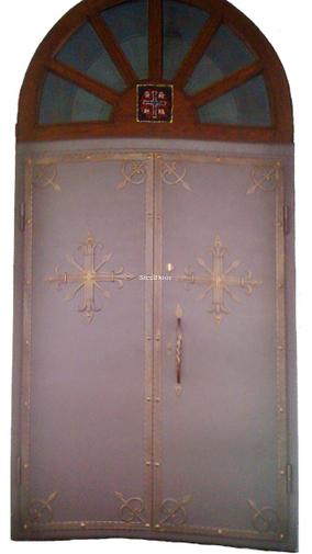 Входная металлическая распашная арочная дверь SteelDoor АР-6
