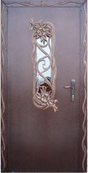 Входная металлическая дверь с ковкой SteelDoor К-1