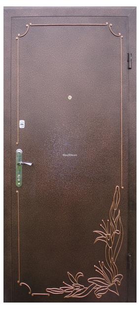Входная металлическая дверь с ковкой SteelDoor К-4